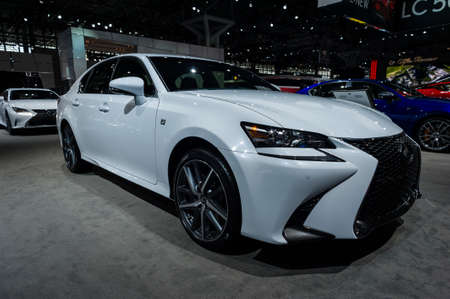 lexus auto: New York, USA - March 23, 2016: Lexus GS 350 F Sport on display during the New York International Auto Show at the Jacob Javits Center. Editorial