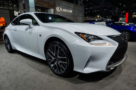 lexus: New York, USA - March 23, 2016: Lexus RC 350 on display during the New York International Auto Show at the Jacob Javits Center. Editorial