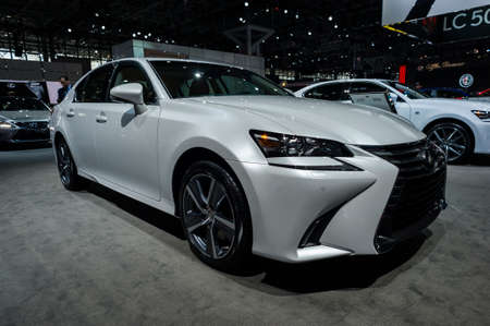 lexus: New York, USA - March 23, 2016: Lexus GS 350 on display during the New York International Auto Show at the Jacob Javits Center. Editorial