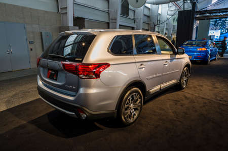 jacob: New York, USA - March 24, 2016: Mitsubishi Outlander on display during the New York International Auto Show at the Jacob Javits Center. Editorial