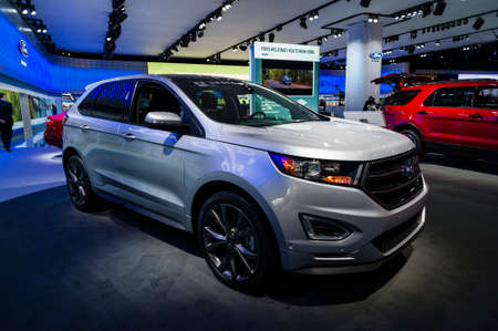 New York Usa March   Ford Edge On Display During The