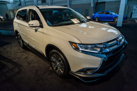 New York, USA - March 24, 2016: Mitsubishi Outlander on display during the New York International Auto Show at the Jacob Javits Center. Editorial
