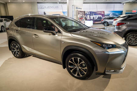 lexus: New York, USA - March 24, 2016: Lexus NX200t on display during the New York International Auto Show at the Jacob Javits Center.