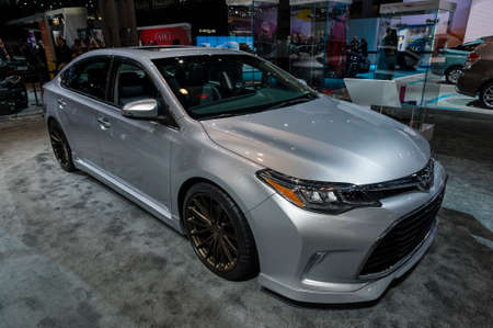 jacob: New York, USA - March 23, 2016: Toyota SEMA Edition TRD Avalon on display during the New York International Auto Show at the Jacob Javits Center.