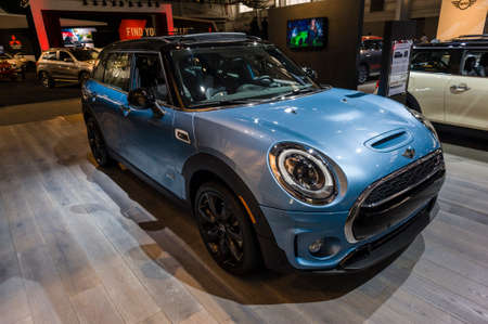 cooper: New York, USA - March 24, 2016: Mini Cooper S Clubman All4 on display during the New York International Auto Show at the Jacob Javits Center. Editorial