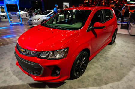 sonic: New York, USA - March 23, 2016: Chevrolet Sonic on display during the New York International Auto Show at the Jacob Javits Center. Editorial