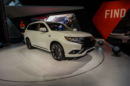 outlander: New York, USA - March 24, 2016: Mitsubishi Outlander on display during the New York International Auto Show at the Jacob Javits Center. Editorial