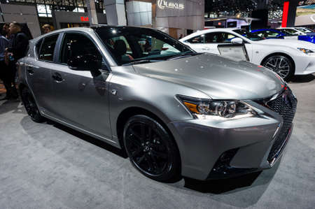 lexus: New York, USA - March 23, 2016: Lexus on display during the New York International Auto Show at the Jacob Javits Center. Editorial