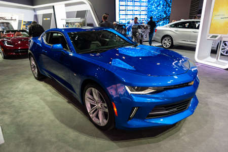 chevrolet: New York, USA - March 23, 2016: Chevrolet Camaro on display during the New York International Auto Show at the Jacob Javits Center. Editorial