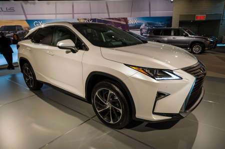 lexus auto: New York, USA - March 24, 2016: Lexus RX350 on display during the New York International Auto Show at the Jacob Javits Center.
