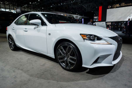 lexus auto: New York, USA - March 23, 2016: Lexus IS 300 F sport on display during the New York International Auto Show at the Jacob Javits Center. Editorial