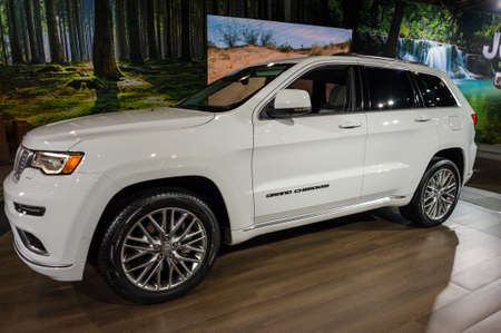 cherokee: New York, USA - March 24, 2016: Jeep Grand Cherokee on display during the New York International Auto Show at the Jacob Javits Center. Editorial