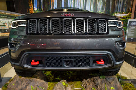 cherokee: New York, USA - March 24, 2016: Jeep Grand Cherokee Trailhawk on display during the New York International Auto Show at the Jacob Javits Center.