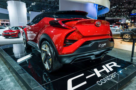 chr: New York, USA - March 23, 2016: Toyota C-HR concept car on display during the New York International Auto Show at the Jacob Javits Center.