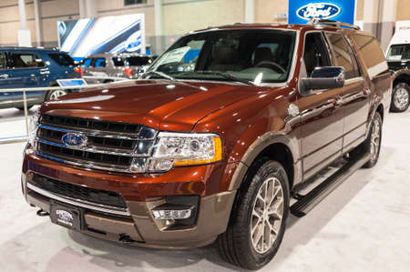 expeditions: CHARLOTTE, NC, USA - November 11, 2015: Ford Expedition King Ranch on display during the 2015 Charlotte International Auto Show at the Charlotte Convention Center in downtown Charlotte.