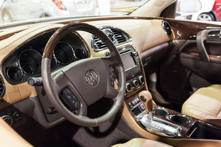 enclave: CHARLOTTE, NC, USA - November 11, 2015: Buick Enclave on display during the 2015 Charlotte International Auto Show at the Charlotte Convention Center in downtown Charlotte.