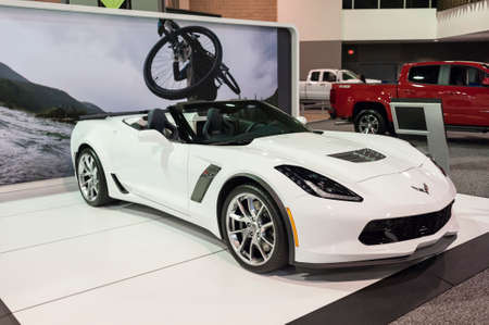 charlotte: CHARLOTTE, NC, USA - November 11, 2015: Chevrolet Corvette Z06 on display during the 2015 Charlotte International Auto Show at the Charlotte Convention Center in downtown Charlotte. Editorial