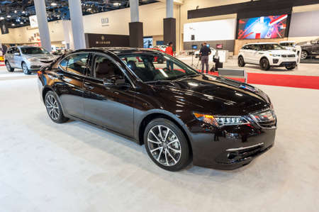 acura: Miami Beach, FL, USA - November 6, 2015: Acura TLX on display during the 2015 Miami International Auto Show at the Miami Beach Convention Center in downtown Miami Beach.