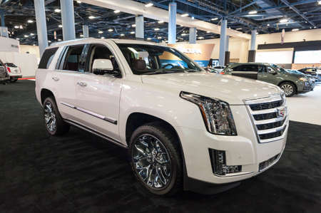 Miami Beach, FL, USA - November 6, 2015:  Cadillac Escalade on display during the 2015 Miami International Auto Show at the Miami Beach Convention Center in downtown Miami Beach.