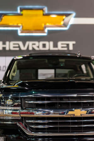 silverado: CHARLOTTE, NC, USA - November 11, 2015: Chevrolet Silverado on display during the 2015 Charlotte International Auto Show at the Charlotte Convention Center in downtown Charlotte.