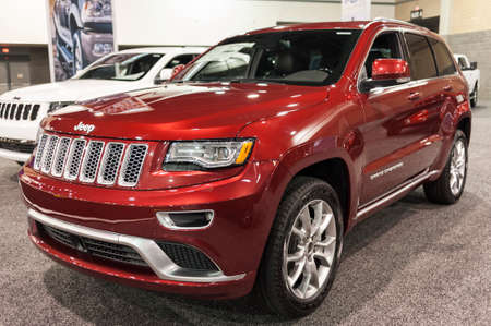 cherokee: CHARLOTTE, NC, USA - November 11, 2015: Jeep Grand Cherokee on display during the 2015 Charlotte International Auto Show at the Charlotte Convention Center in downtown Charlotte.