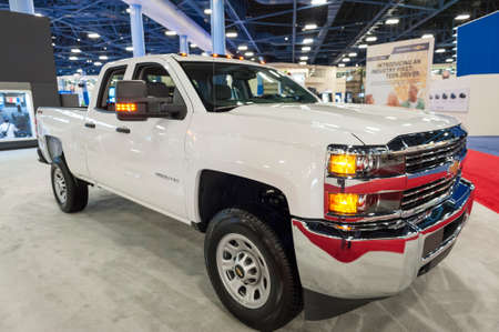 silverado: Miami Beach, FL, USA - November 6, 2015:  Chevrolet Silverado 2500 HD on display during the 2015 Miami International Auto Show at the Miami Beach Convention Center in downtown Miami Beach. Editorial