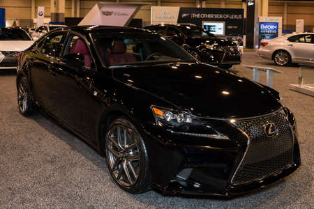 lexus: Charlotte, North Carolina - November 20, 2014: Lexus IS 350 on display during the 2014 Charlotte International Auto Show at the Charlotte Convention Center.