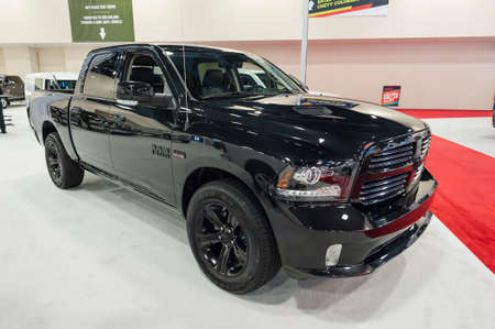 Miami Beach, FL, USA - November 6, 2015:  RAM 1500 Tradesman on display during the 2015 Miami International Auto Show at the Miami Beach Convention Center in downtown Miami Beach.