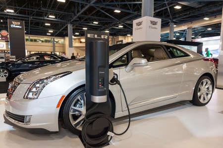 Miami Beach, FL, USA - November 6, 2015: Cadillac ELR on display during the 2015 Miami International Auto Show at the Miami Beach Convention Center in downtown Miami Beach. Sajtókép