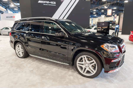 mercedes: Miami Beach, FL, USA - November 6, 2015: Mercedes GL550 on display during the 2015 Miami International Auto Show at the Miami Beach Convention Center in downtown Miami Beach. Editorial
