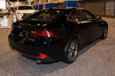 lexus auto: Charlotte, North Carolina - November 20, 2014: Lexus IS 350 on display during the 2014 Charlotte International Auto Show at the Charlotte Convention Center.