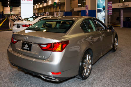 charlotte: Charlotte, North Carolina - November 20, 2014: Lexus GS 350 on display during the 2014 Charlotte International Auto Show at the Charlotte Convention Center. Editorial