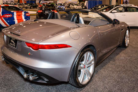Charlotte, NC, USA - November 20, 2014: Jaguar F-Type V8 S on display during the 2014 Charlotte International Auto Show at the Charlotte Convention Center.