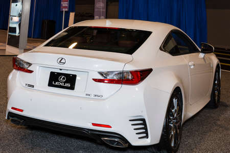 lexus: Charlotte, North Carolina - November 20, 2014: Lexus RC 350 on display during the 2014 Charlotte International Auto Show at the Charlotte Convention Center.