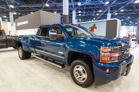 silverado: Miami Beach, FL, USA - November 6, 2015:  Chevrolet Silverado 3500 HD High Country on display during the 2015 Miami International Auto Show at the Miami Beach Convention Center in downtown Miami Beach.