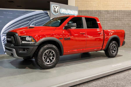 charlotte: CHARLOTTE, NC, USA - November 11, 2015: RAM 1500 on display during the 2015 Charlotte International Auto Show at the Charlotte Convention Center in downtown Charlotte.