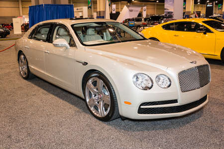 charlotte: Charlotte, NC, USA - November 20, 2014: Bentley Flying Spur on display during the 2014 Charlotte International Auto Show at the Charlotte Convention Center.