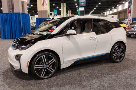 i3: CHARLOTTE, NC, USA - November 11, 2015: BMW i3 on display during the 2015 Charlotte International Auto Show at the Charlotte Convention Center in downtown Charlotte.