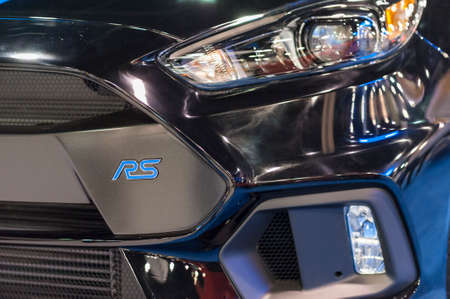 CHARLOTTE, NC, USA - November 11, 2015: Ford Focus RS on display during the 2015 Charlotte International Auto Show at the Charlotte Convention Center in downtown Charlotte. Sajtókép