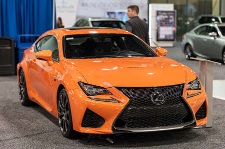 lexus: CHARLOTTE, NC, USA - November 11, 2015: Lexus RC F on display during the 2015 Charlotte International Auto Show at the Charlotte Convention Center in downtown Charlotte.