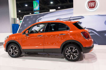 charlotte: CHARLOTTE, NC, USA - November 11, 2015: Fiat 500X on display during the 2015 Charlotte International Auto Show at the Charlotte Convention Center in downtown Charlotte.