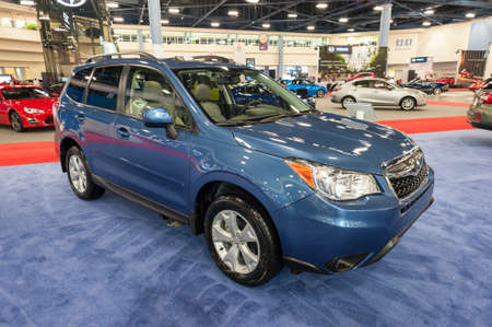 forester: Miami Beach, FL, USA - November 6, 2015:  Subaru Forester on display during the 2015 Miami International Auto Show at the Miami Beach Convention Center in downtown Miami Beach. Editorial