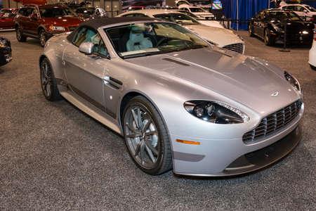 v8: Charlotte, NC, USA - November 20, 2014: Aston Martin V8 Vantage N430 Convertible on display during the 2014 Charlotte International Auto Show at the Charlotte Convention Center.