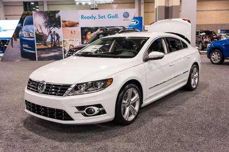 cc: CHARLOTTE, NC, USA - November 11, 2015: Volkswagen CC R-Line on display during the 2015 Charlotte International Auto Show at the Charlotte Convention Center in downtown Charlotte. Editorial