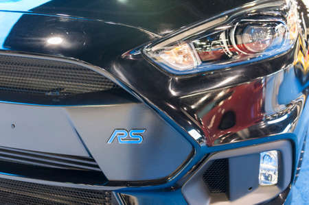 auto focus: CHARLOTTE, NC, USA - November 11, 2015: Ford Focus RS on display during the 2015 Charlotte International Auto Show at the Charlotte Convention Center in downtown Charlotte. Editorial