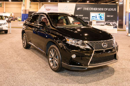rx: Charlotte, North Carolina - November 20, 2014: Lexus RX 350 F Sport on display during the 2014 Charlotte International Auto Show at the Charlotte Convention Center.