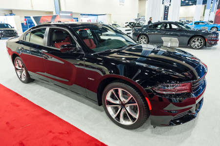 dodge: Miami Beach, FL, USA - November 6, 2015: Dodge Charger on display during the 2015 Miami International Auto Show at the Miami Beach Convention Center in downtown Miami Beach.