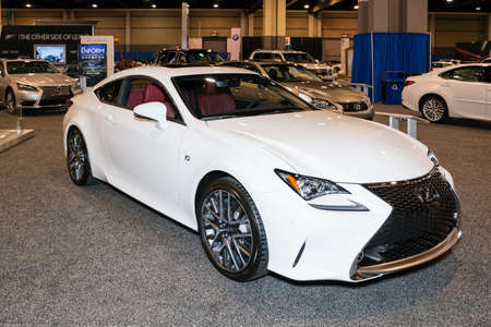 lexus auto: Charlotte, North Carolina - November 20, 2014: Lexus RC 350 on display during the 2014 Charlotte International Auto Show at the Charlotte Convention Center.