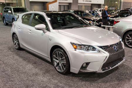 lexus auto: CHARLOTTE, NC, USA - November 11, 2015: Lexus CT on display during the 2015 Charlotte International Auto Show at the Charlotte Convention Center in downtown Charlotte.