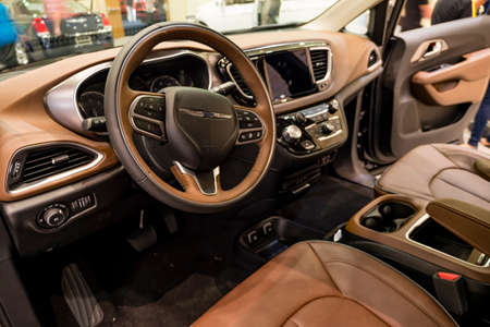 Convention Center: Miami, USA - September 10, 2016: Chrysler Pacifica on display during the Miami International Auto Show at the Miami Beach Convention Center.